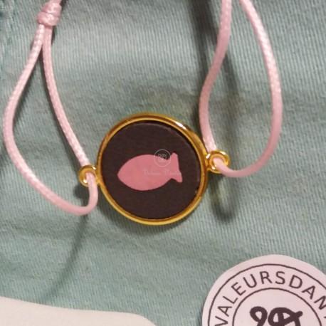 Bracelet Rose & Gris
