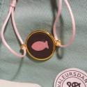 Bracelet pastille Rose & Gris