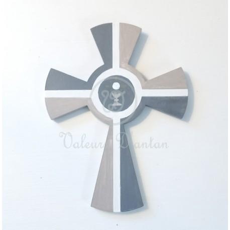 Croix de communion bicolore