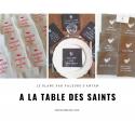 Serviettes brodées St Jean-Paul II
